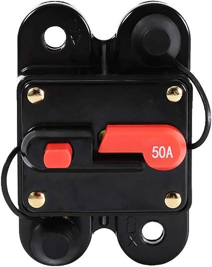Keenso Radio Sicherungshalter 12v 24v Wasserdicht Zurücksetzen Leistungsschalter Sicherungshalter Für Auto Boot Radio Stromschutz 60a Auto
