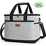 Kollea Cooler Bag, 30L Picnic Cooler Bag with Hard Liner to Keep Warm and Cold, Large Insulated Large Cool Bag for Camping, BBQ, Family, Car, and Outdoor Activities
