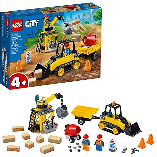 LEGO City Construction Bulldozer 60252 Toy Construction Set, Cool Building Set for Kids, New 2020 (126 Pieces)