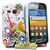 Accessory Master - Carcasa de silicona para Samsung Galaxy S6310, diseño de flores, multicolor