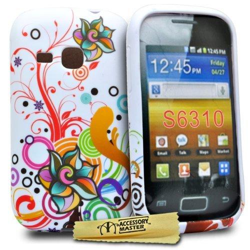 Accessory Master-Cover per Samsung Galaxy Young S6310, Motivo: Fiori e Farfalle, in Silicone