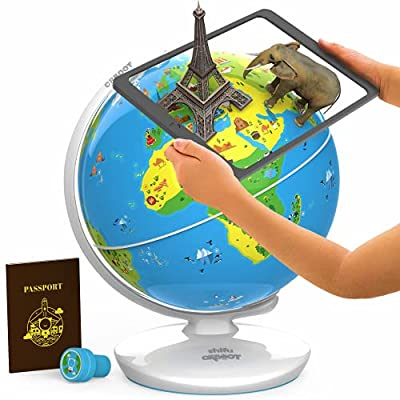 Orboot Earth by PlayShifu (App Based): Augmented Reality Interactive Globe for Kids, Stem Toy for Boys & Girls Age 4 to 10 Years (Metal Orboot)