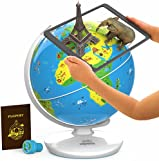 Orboot Earth by PlayShifu (App Based): Interactive AR Globe For Kids, STEM Toy Ages 4-10, Educational Gift For Boys & Girls (No Borders, No Names On Globe)