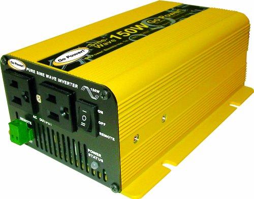 Go Power! GP-SW150-12 150-Watt Pure Sine Wave Inverter