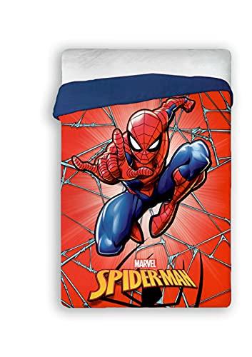 Acomoda Textil - Edredón Nórdico Infantil 180 x 260 cm, Edredón Cama 90 - 105, Cálido, Ligero y Transpirable. (Spiderman)