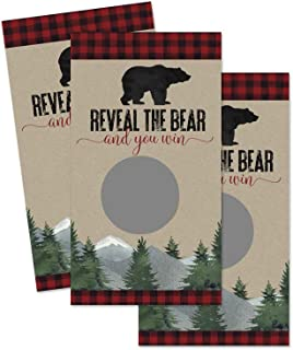 Lumberjack Scratch Off Game Cards (30 Pack) Plaid Baby Shower and Woodsy Boys Party Theme