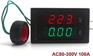 Best 300v 100a dual led digital volt amp meter Reviews