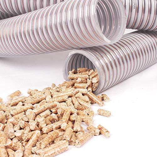silos24 104160 Pelletschlauch 5 Meter NW 50 mm mit CU-Litze Saugschlauch Rückluftschlauch Förderschlauch, Schlauchlänge:5 m