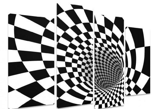 """Cuadros túnel ilusión óptica + arte en lienzo Arte imagen, 4 Panel - Size 101cm x 71cm (40""""x28"""")"""