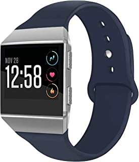OenFoto Sport Bands Compatible Fitbit Ionic, Soft Silicone Wristband Replacement Watch Band Strap Accessory Bracelet for Fitbit Ionic Smart Watch, Large Small