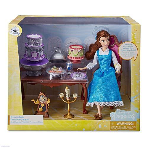 Disney Store Belle - Juego de mesa de fiesta de La Bella y la Bestia