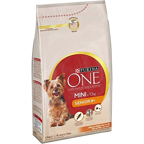 Purina ONE MINI Pienso para Perro Senior Pollo y Arroz 6 x 1.5kg