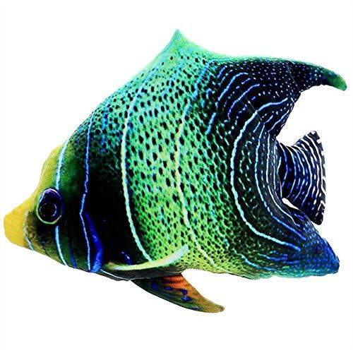 EREL 45 cm Ozean Unterwasserwelt Tropische Fischspielzeug Natürliches Plüschkissen Kissen dedu