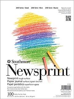 "Strathmore 200 Series Newsprint Pad, 18""x24"" Tape Bound, 100 Sheets"