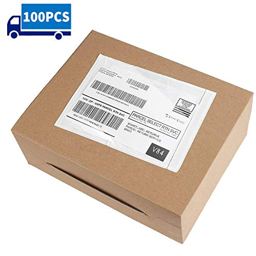 Metronic 7.5x5.5'' 100PCS Clear Self-Adhesive Packing List Envelopes for Invoice Shipping Label Mailing Bags
