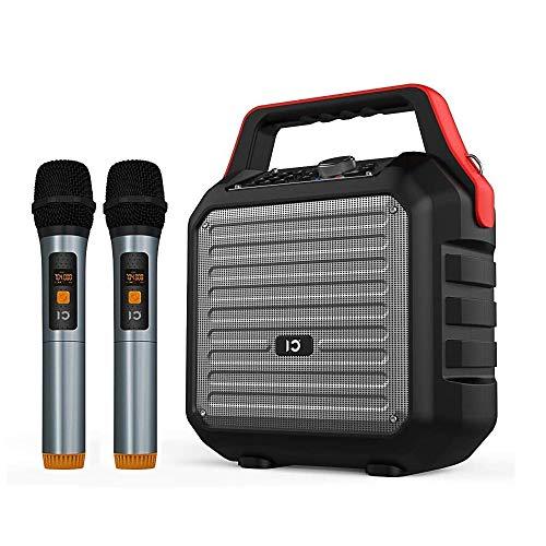 SHIDU Altavoces Bluetooth con micrófono de mano Sistema de PA portátil Máquina...