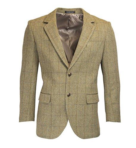 Walker & Hawkes - Herren Country-Blazer - Klassische Jacke aus Windsor-Tweed - Helles Salbeigrün - Größe 50