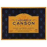 Bloc Encolado a 4 Lados, 36x51 cm, 20 Hojas, L'Aquarelle Canson Héritage 100% Algodón, Grano Fino 300g
