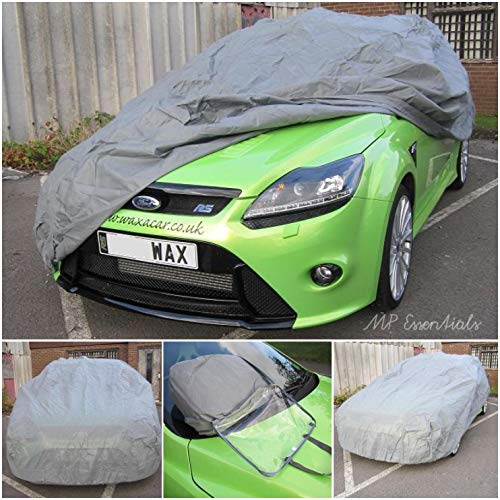 Grey Breathable Full Car Cover to fit Fiat 500 - Indoor & Outdoor Sun Rain Frost Ice Snow Protection