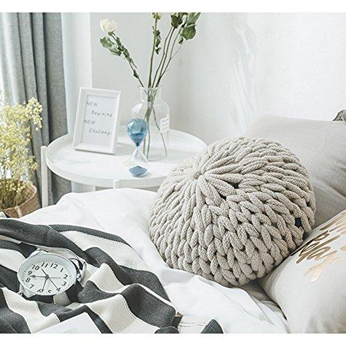 Minions Boutique - Cojín para sofá y respaldo de hilo grueso tejido a mano para decoración del hogar