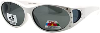 Polarized Lens Fit Over Glasses Sunglasses Womens Oval Frame Rhinestones