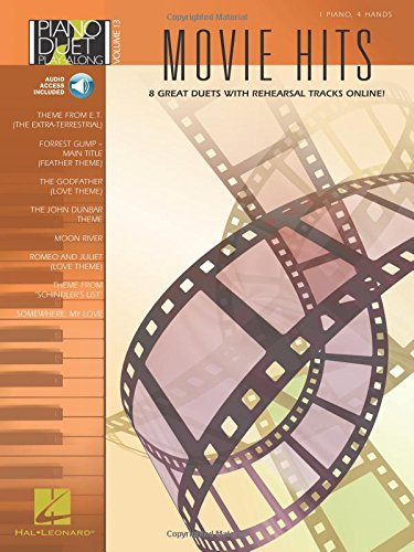 Piano Duet Play-Along Volume 13: Movie Hits (Book/Online Audio) (Book & CD)