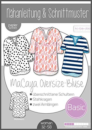 Schnittmuster kibadoo Oversize Bluse MaCaya Papierschnittmuster