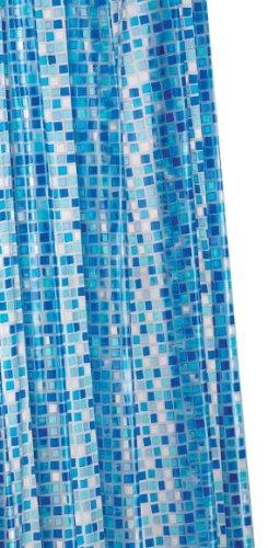 Croydex PVC-Duschvorhang Blue Mosaic