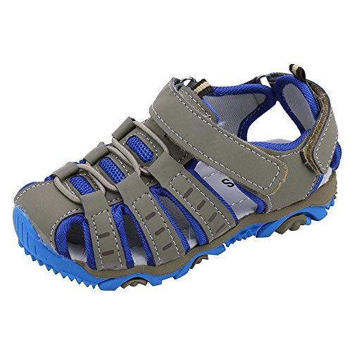 YWLINK Sandalias Deportivas NiñOs Zapatos para NiñOs Punta Cerrada Verano Playa Sandalias Zapatos,Zapatillas Antideslizante Fondo Blando Casuales(Gris,31EU)