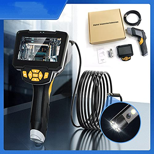 Endoscopio, Camara Inspeccion Tuberias, Camara Endoscopica, Endoscopio Industrial, Endoscopios con Monitor, Camara Inspeccion Tuberias Profesional,Endoscopica,Dual Lens 8mm,10m(32ft)
