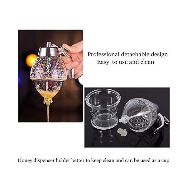 Probeallyu – Dispensador de miel, jarabe de jugo y miel, botella