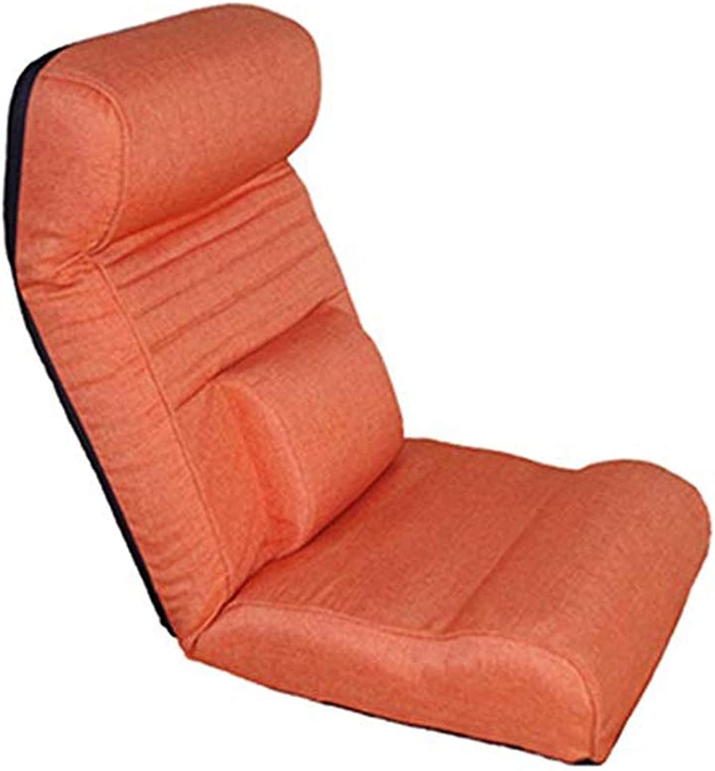 Meditation Chair, Creative Multifunctional Floor Chair Lazy Couch Chair Single Foldable Bed Chair Japanese Style Washable Leisure Chair (color   orange)