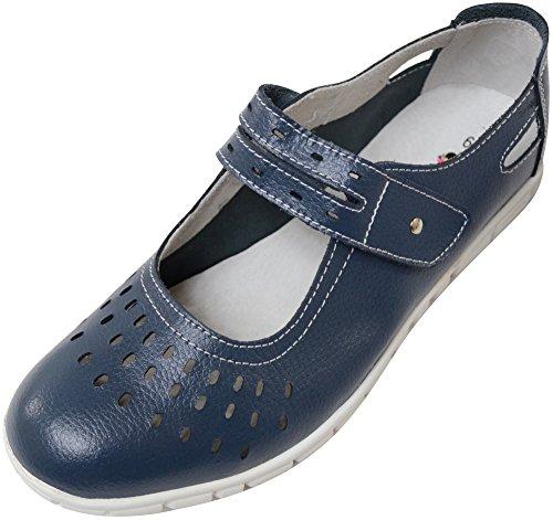 Absolute Footwear , Mocassins pour Femme - Bleu - Prune,