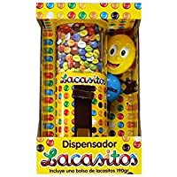 DISPENSADOR DE LACASITOS - Dispensador de grajeas de chocolate recubiertas de una fina capa de azúcar coloreado 150 gr