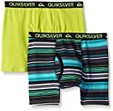 Quiksilver Little Boys' Boxer Brief, Stripe Print, Small/6/7 (Pack of 2)
