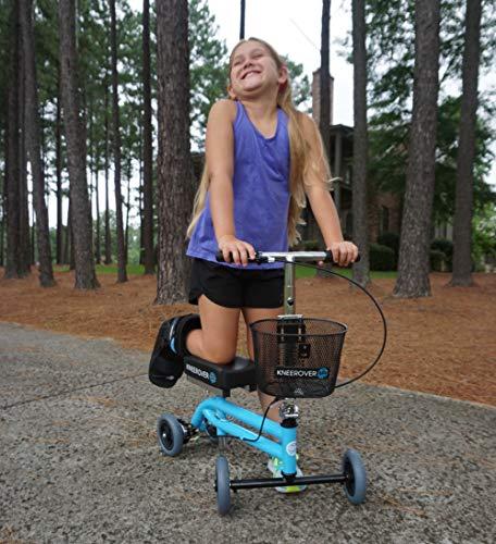 KneeRover Kids Knee Walker Child Knee Scooter Pediatric Crutches Alternative in Light Blue