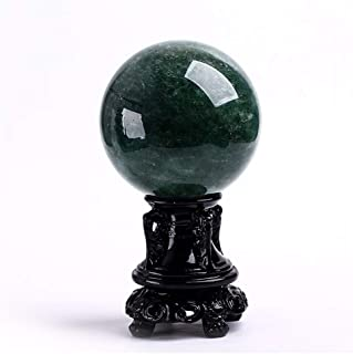 Crystal Ball/Decorative Balls Natural Green Strawberry Crystal,Crystal Ball,Rare Green Power Stone Ball for Crystal Healin...