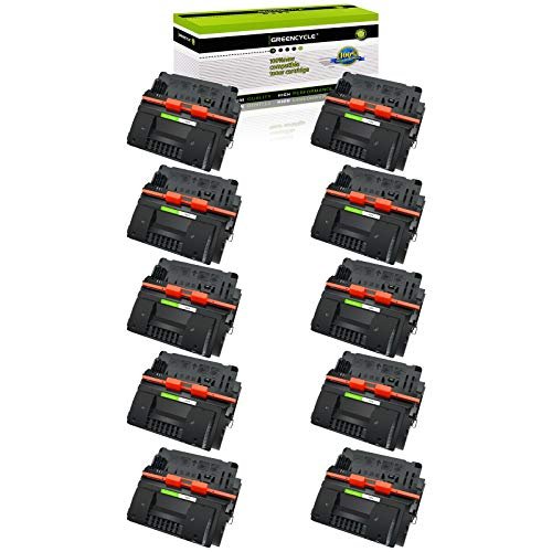 GREENCYCLE 10 Pack 81X CF281X Black High Yield Toner Cartridge Replacement Compatible for HP Laserjet Enterprise MFP M605 M630 M606 M605N M605DN M605X M630h M630dn M630z Printer