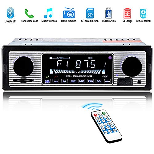 DBGS 12V Bluetooth retro autoradio MP3-speler stereo USB AUX Classic Car Stereo-audio