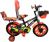 "RISING INDIA 14"" Cartoon Character Double Seated Kids Bicycle for 3-5 Years Semi"