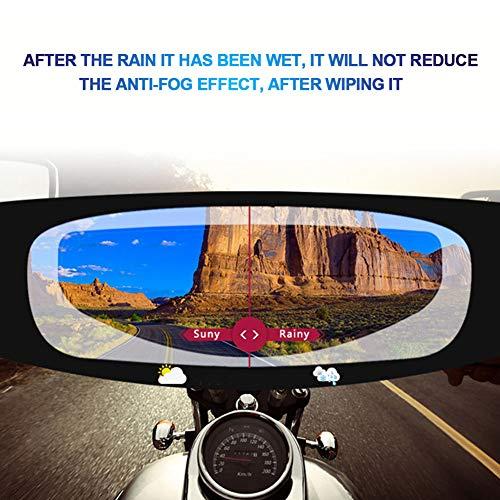 szdc88 Motorradhelm Objektiv Anti-Fog-Film Ultra Clear Nebel Visier Schutzbrillen Aufkleber, Universal Anti-Fog Nebel Visier Shield Film Anti-Glare