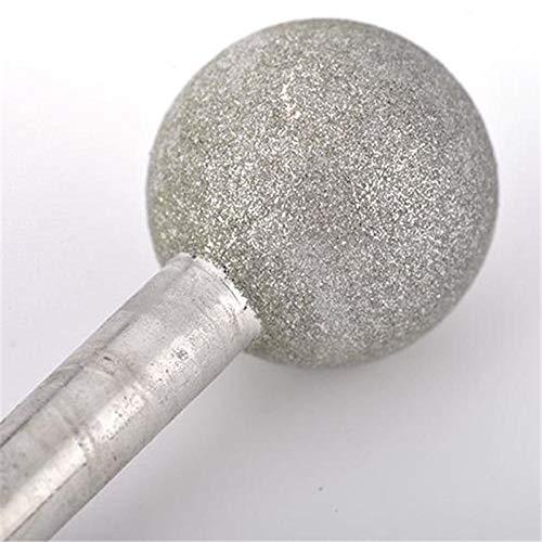 Cabeza de molienda de diamante duradera de 3 / 6mm esféricos para jade, metal, aleación, maquinaria, piedra, molde de molde y pulido-3x10mm