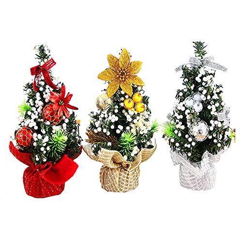 Decoraciones para árboles de Navidad, Mini regalos para niños de Navidad, Decoraciones de escritorio pequeñas 20cm 3pcs