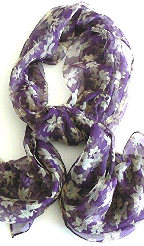 Silksalon Oblong 100% Silk Scarf Belt Hand Rolled Edges A778
