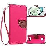 Qiaogle Téléphone Coque - PU Cuir Rabat Wallet Housse Case pour Motorola Moto Z Play (5.5 Pouce) -...