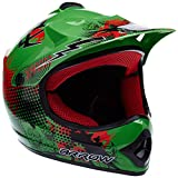 ARMOR Helmets AKC-49 Kinder-Cross-Helm, Schnellverschluss Tasche, XS (51-52cm), Grün