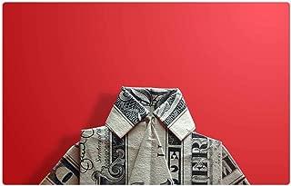 Tree26 Indoor Floor Rug/Mat (23.6 x 15.7 Inch) - Origami Dollar Bill Shirt Paper Red Background