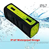 JWS 084 6W Enhanced Bass Portable Wireless Bluetooth Stereo Waterproof Speakers for Sport Outdoor and Shower,Built-In Microphone for iphone/ipad/ipod/Android phone &GREEN
