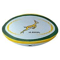 Gilbert South Africa International Replica Mini Rugby Ball, White, Mini from Gilbert