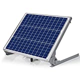 SUNER POWER 12V Waterproof Solar Battery Trickle Charger & Maintainer - 50 Watts Solar Panel Built-in Intelligent MPPT Solar Charge Controller + Adjustable Mount Bracket + SAE Connection Cable Kits